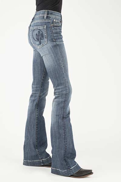 WOMEN'S HIGH RISE CACTUS FLARE JEANS BY STETSON 2403