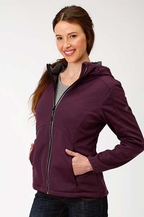 ROPER  WOMENS OUTERWEAR MICRO FLEECE JACKET