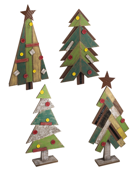Wooden Christmas Tree Plaques