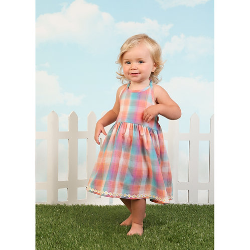 WRANGLER BABY PLAID DRESS PQ2115
