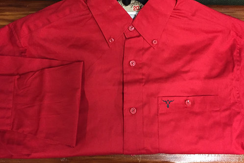 WRANGLER 20X RED SOLID L/S BUTTON UP MJ2606R