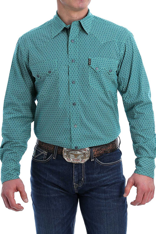 MEN'S CINCH MODERN FIT AQUA L/S MTW1301047
