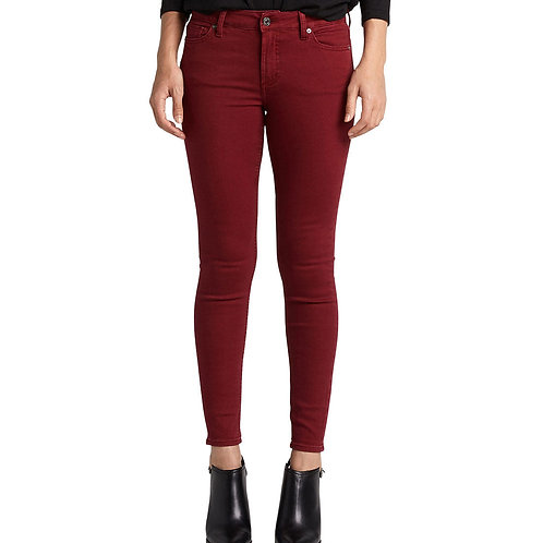 WOMEN'S SILVER CRANBERRY SKINNY JEANS L63022SAC039