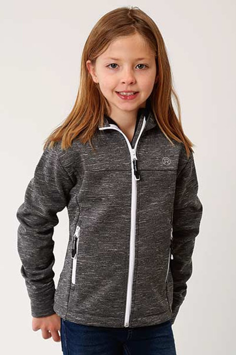 ROPER GIRL'S GREY BONDED JACKET 7022