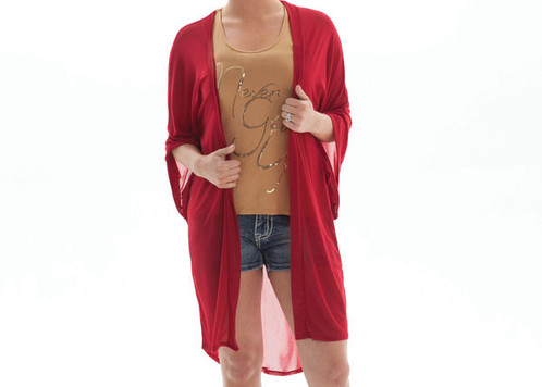 COWGIRL TUFF RED SHORT SLEEVE SHEER CARDIGAN 1000 | Coles General ...