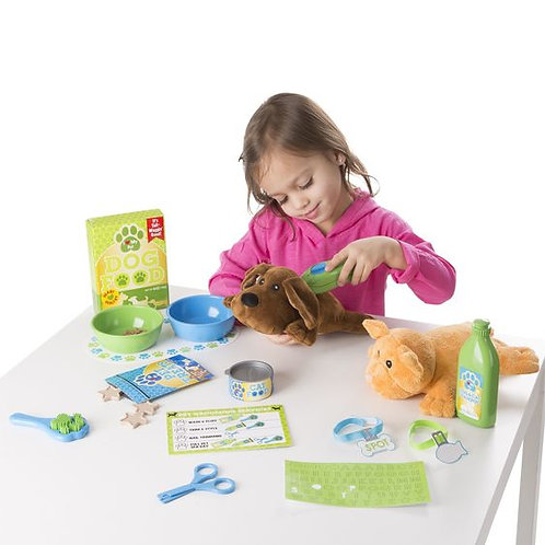 MELISSA & DOUG FEEDING/GROOMING PET CARE PLAY SET 8551