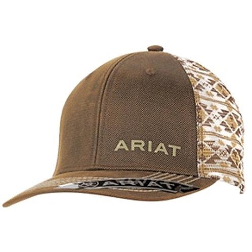 MEN'S ARIAT BROWN AZTEC MESH CAP 1510002