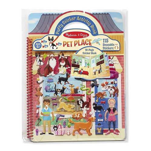 M&D PUFFY STICKER ACTIVITY BOOK- PET PLACE 9429