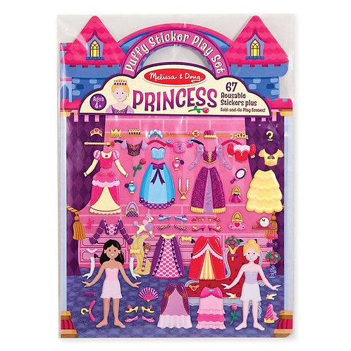 MELISSA & DOUG PRINCESS PUFFY STICKERS PLAY SET