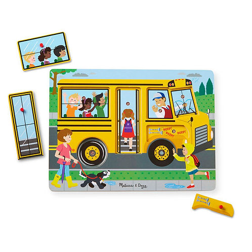 M&D THE WHEELS ON THE BUS SOUND PUZZLE 0739