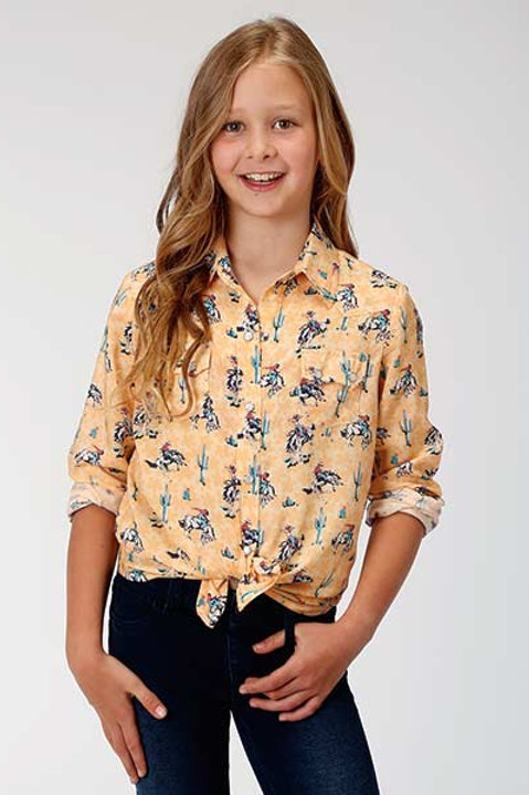 GIRL'S ROPER BRONC L/S BUTTON UP 2005