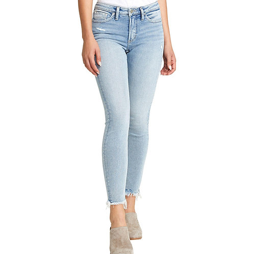 WOMEN'S MOST WANTED SKINNY SILVER JEANS L63022SFV267