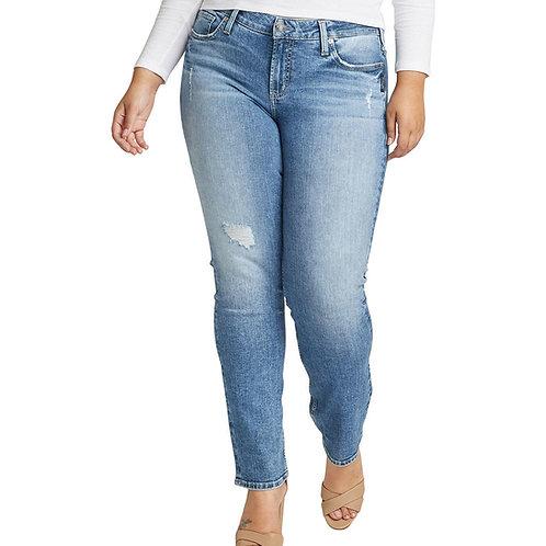WOMEN'S SILVER ELYSE STRAIGHT LEG JEAN L03403SJL271