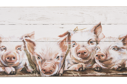 GANZ PAINTED PIGS WALL PLAQUE