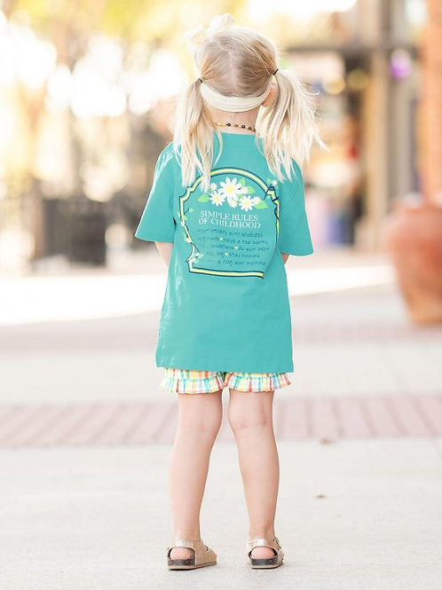 RUFFLEBUTTS SIMPLE RULES TEE SSKBL
