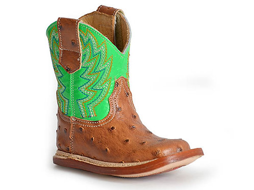 INFANT'S ROPER LIME TOP COWBABY BOOTS 8247