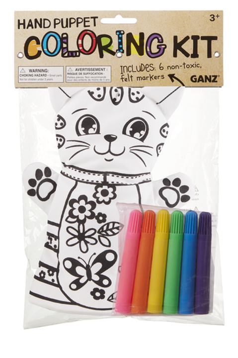 GANZ COLORING KIT HAND PUPPET-CAT