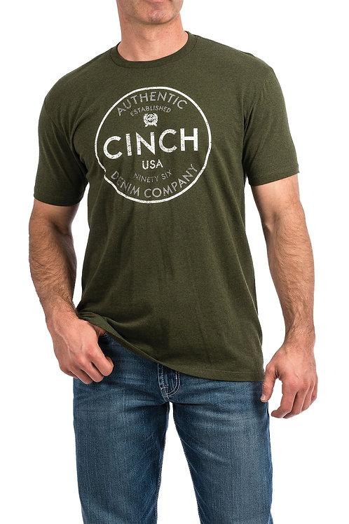 MEN'S CINCH OLIVE GREEN TEE MTT1690329