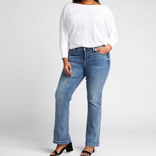 WOMEN'S SILVER SUKI BOOTCUT JEANS L93719ASC233