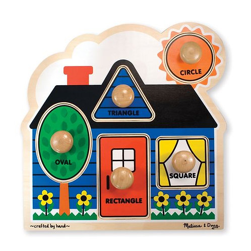 M&D  FIRST SHAPES JUMBO KNOB PUZZLE 2053