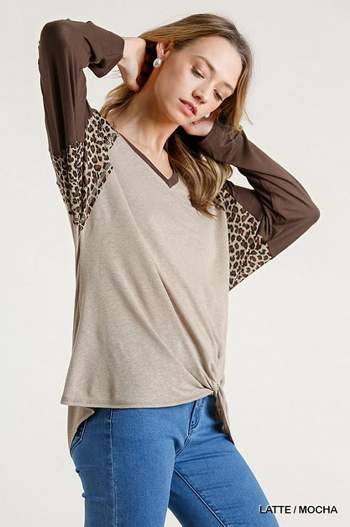 WOMEN'S ANIMAL PRINT TOP BY UMGEE M5063