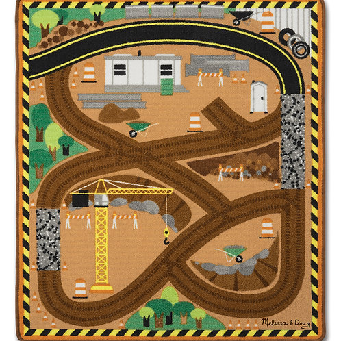 MELISSA & DOUG ROUND THE SITE CONSTRUCTION RUG 9407