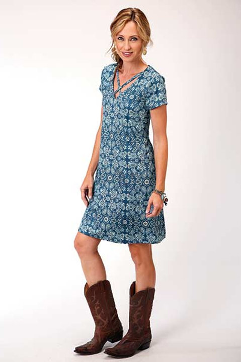 WOMEN'S ROPER PAISLEY PRINT DRESS 5004