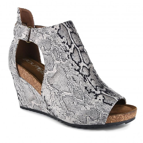 WOMEN'S SNAKE PRINT WEDGE SHOES