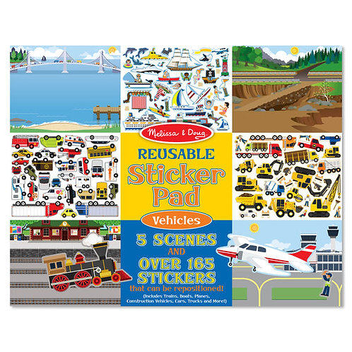 M&D REUSABLE STICKER PAD - VEHICLES 4199