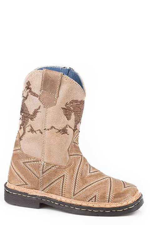 TODDLER BOY'S LEATHER ROPER BOOT 1446