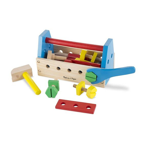MELISSA & DOUG TAKE-ALONG WOODEN TOOL KIT 494