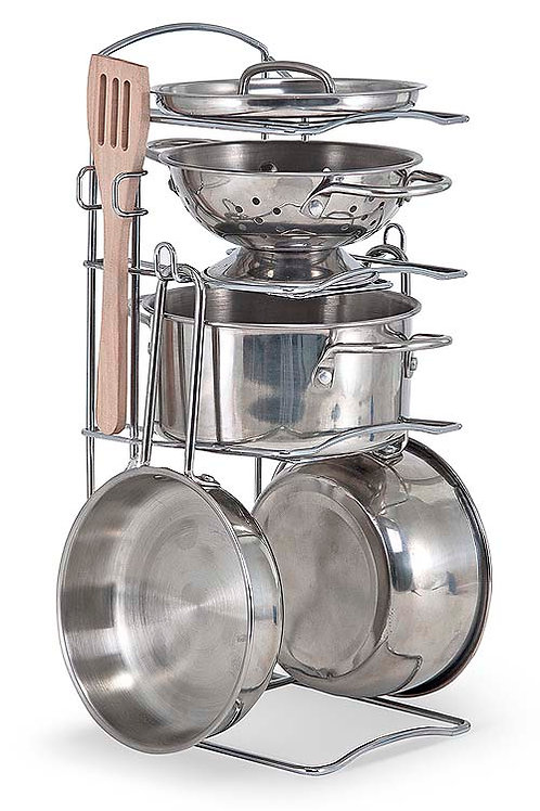 MELISSA & DOUG LETS PLAY HOUSE POTS AND PANS 4265