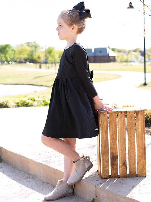 TODDLER/GIRL'S BLACK TWIRL DRESS SDKBK