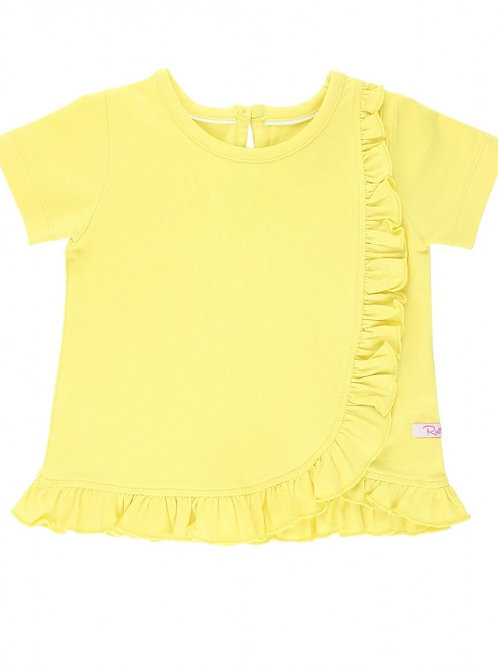 RUFFLEBUTTS LEMON DETAIL TOP SSKLM