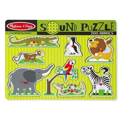 M&D ZOO ANIMALS SOUND PUZZLE 727