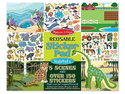 MELISSA & DOUG REUSABLE STICKER PAD 4196