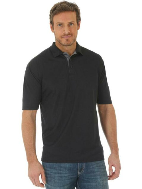 MEN'S WRANGLER 20X BLACK POLO MACP01X