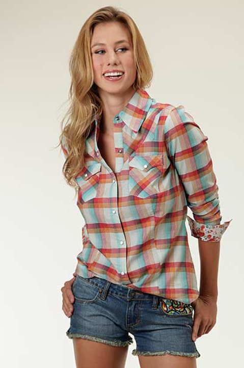 ROPER BRIGHT MULTI PLAID SHIRT 2063