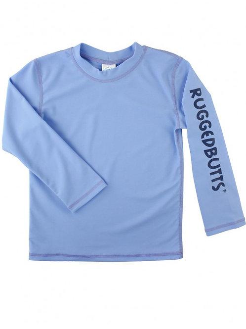 RUGGEDBUTTS BLUE LOGO L/S RASH GUARD SHIRT RGSCB