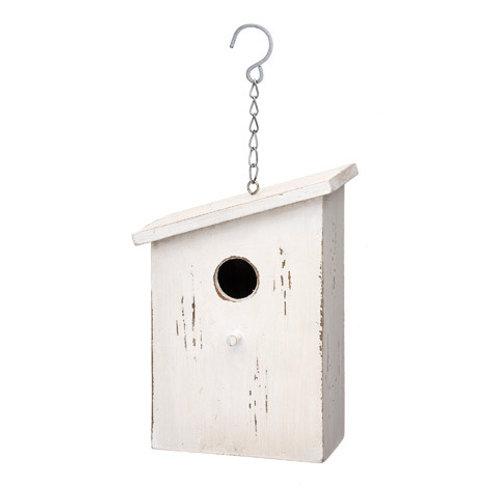 WHITE WOOD BIRD HOUSE 30042750