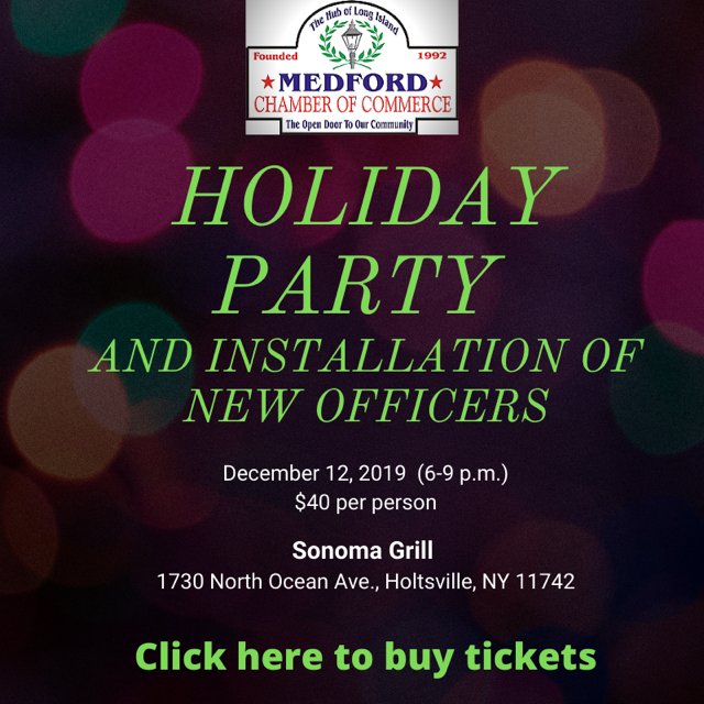 Medford NY Holiday Party and Installation Dinner