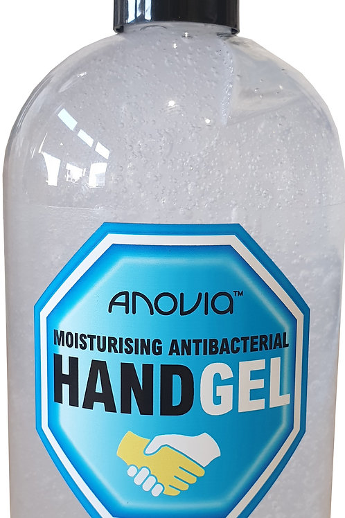 Anovia Moisturising Antibacterial Hand Gel 525ml 60% Alcohol UK Manufactured