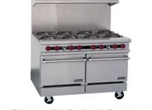 "8 burners stove Therma-Tek 48"" Natural Gas with 2 ovens"