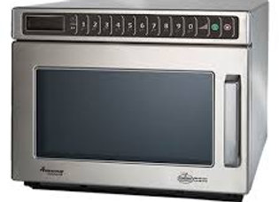 """Amana 17"""" Heavy Volume 2100 Watts Commercial Compact Microwave, 208-240V"""