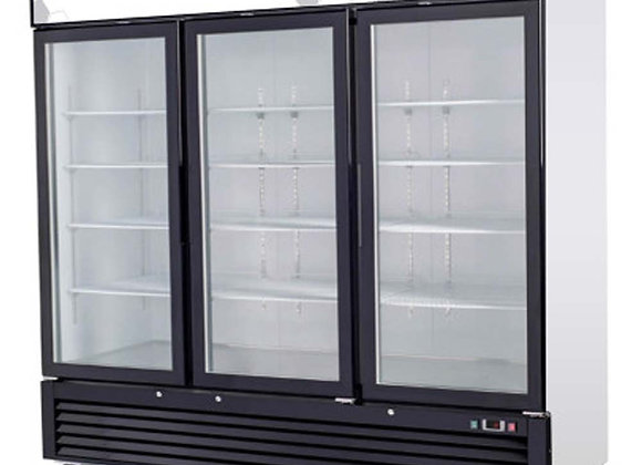 "Migali C-72FM 82"" Triple Glass Swing Door Merchandiser Freezer - 72 Cu. Ft.  Ava"