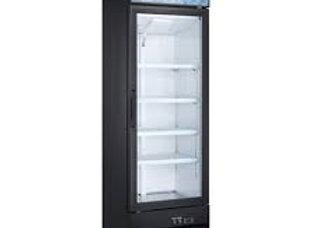 27 Single Glass Swing Door Merchandiser Freezer - Black
