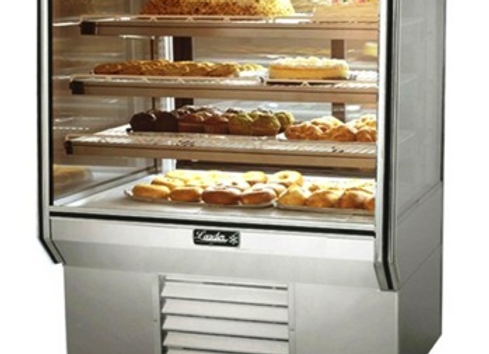 "36"" High Refrigerated Glass Bakery Display Case"