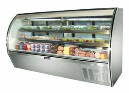 """Leader  96"""" High Refrigerated Curved Glass Deli Display Case"""