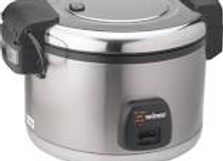 Electric Rice Cooker w/ Hinged Cover & Stainless Body, Satin Finish