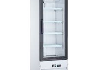 "21"" Single Glass Swing Door Merchandiser Refrigerator"